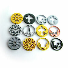 10Pieces Mix Floating Locket Plates Window Back Plates Charms FREE SHIPPING