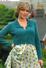 91a90235790df Wendy Knitting Pattern 5394 Lacy Crop Cardigan 30-40
