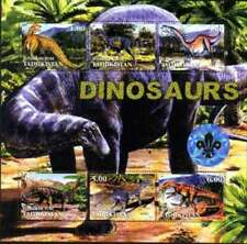 Dinosauri su Francobolli - 6 Francobollo Foglio - 4505