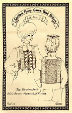 """UNCUT1981The Piecemakers Applique Sewing Pattern #01 """"Quilted Flying Geese Vest"""""""