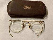 Antique Gold-filled 1-10 12K Gold Filled Eyeglasses Bifocal Spectacles Glasses