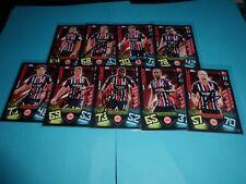 Topps Fussball Match Attax 19/20 Frankfurt 9 Karten signiert