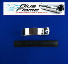Exhaust Oval Hanging Strap Body Band Silencer    Genuine Blueflame