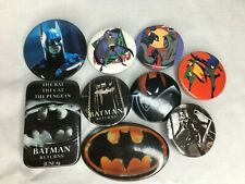 Lot of 9 Vintage Batman Button(s) / Pin(s)