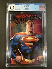CGC 9.4 SUPERMAN #1 COMIC BOOK LOT SDCC SILVER FOIL VARIANT COVER REIS BENDIS