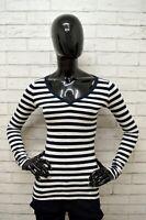 Maglia HOLLISTER Donna Taglia Size XS Shirt Woman Cotone Manica Lunga a Righe