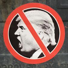 """Anti TRUMP Circular Bumper Sticker / Decal 3.5"""" Diameter - SET OF 2!!! Resist!!!"""