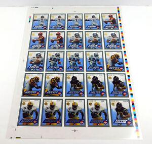 "1994 Collector's Edge Football Edge F/X 25 Card Uncut Sheet 14"" x 20"""