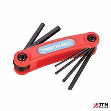 7pc Folding Hex Key Set 1.5 to 6mm Allen Alan Garage Builders Tool Tools Metric