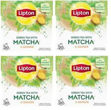 4x LIPTON GREEN TEA with MATCHA and GINGER  4 x 20 bags = 80 pyramid tea bags