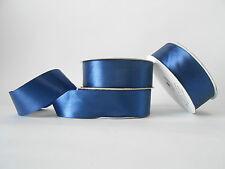 Nastro doppio raso 40 mm rotolo bobina da 50 mt Blu fai da te - art D4019