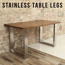 2 x STAINLESS STEEL Table Legs - Designer / Industrial / Dining / Live Edge
