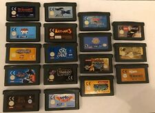 GBA Game Boy Advance Game Bundle x 18 Yu-Gi-Oh,Turtles,LOTR,Banjo Pilot,Simpsons