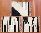 CENTINELA CHIMAYO WEAVINGS three 14 x 19 abstract wall hangings by Vickie Valdez
