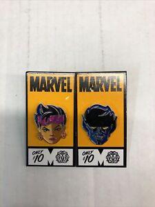 Mondo X Marvel X-men Jubilee & Nightcrawler 2 Enamel Pin SDCC 2016