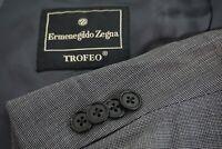 Ermenegildo Zegna Trofeo Gray Nailhead 100% Wool 2 Pc suit Jacket Pants Sz 44R