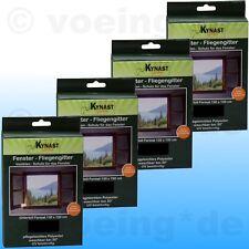 4x Fenster-Fliegengitter Fliegennetz Insektenschutz 130x150cm inkl. Klettband