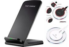 Qi Wireless Fast Charging Pad Stand Dock iPhone 11/XS/8 Galaxy Note 10/9/S10+/S9