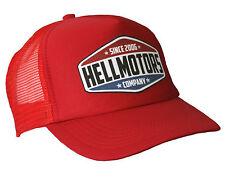 Race Team Hell Motors Trucker Cap Rosso Oldschool Cappuccio v8 Hot Rod Basecap Berretto