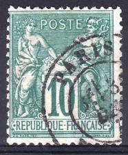 "FRANCE STAMP TIMBRE N° 76 "" SAGE 10c VERT TYPE II 1876 "" OBLITERE TB  M384"