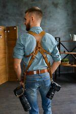 Camera Harness, Dual Camera Strap, Camera Strap, Dual Camera Harness, Leather Ca