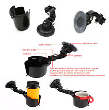 Black Car Auto Vehicle Window Adjustable Suction Cup Holder Universal Drink Hold