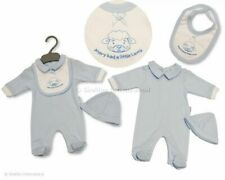 Premature tiny baby boys clothes Mary had a little lamb 3 piece set 3-8 lbs