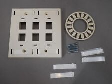 Lot of 40 AMP 83936-1 Keystone Faceplate Kit 6 Port