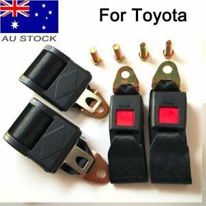 2X Point Universal Seat Safe Belt Lap Sash Retractor Seatbelt Kit For AU Toyota