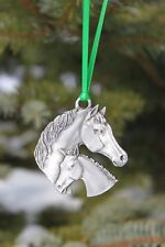 Hastings Pewter Lead Free Pewter Horse & Colt Ornament NEW gift Made in Michigan