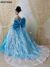 """Blue Bowknot Wedding Dress for 11.5"""" Doll 1:6 Evening Party Dresses Doll Clothes"""