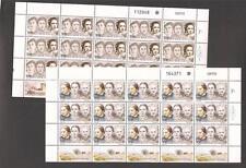 Israel 1992 Famous Women Full Sheets Scott 1102-1103  Bale 1068-1069