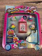 NEW SHOPKINS 5 PACK WORLD VACATION FIGURES SPIKE TOUCANNA BAG