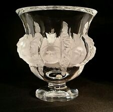 "Lalique crystal ""DAMPIERRE"" vase with birds & vines designs"