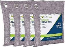 Breathe Green Charcoal Shoe Bag/Home Bag- Odor and Bacteria Eliminator (4 Pack)