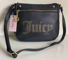 NEW! JUICY COUTURE DESERT LIGHT BLACK GOLD CROSSBODY SLING BAG PURSE $69 SALE