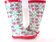 REDFOOT WALK IN THE PARK FESTIVAL WOMEN'S RAIN WELLY BOOTS,FLORAL, US Size 7