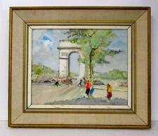 SIGNED ORIGINAL KNUT NORMAN DANISH ARTIST OIL PAINTING UNUSUAL PARIS SCENE