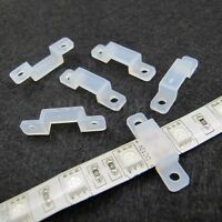 10pcs Silicon Clip for Fixing 8/10mm 3528 5050 5630 RGB & Single Color LED Strip