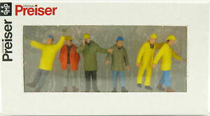 Preiser 68214 Various Construction Industrial Workers Mining - Scale 1:50