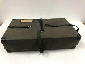 Vintage BLACK FIBER SHIPPING CASE storage box rustic suitcase decor display 40s