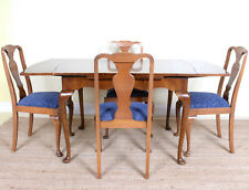 Vintage Walnut Dining Table and Chairs Extending 4 Dining Chairs Deco Antique