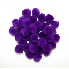 0.5 inch Purple Tiny Craft Pom Poms 100 Pieces