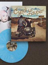 CYNDI LAUPER DETOUR VINYL LP Exclusive Blue Swirl version