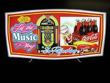 """Vintage LED Lighted Sign: Coca-Cola, Jukebox, """"Sprite Boy, Pedal Car Montage"""
