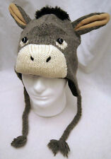 ADULT DONKEY HAT mule animal ski cap costume KNIT eeyore LINED mens womens toque