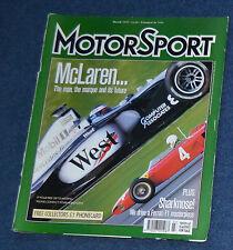 Motor Sport March 1999 Bruce McLaren, McLaren MP4, Ferrari Sharknose156