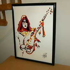 Ace Frehley: Kiss: Lead Guitar Player: Guitarist: Spaceman: Rock: POSTER w/COA 2