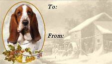 Basset Hound Christmas Labels by Starprint