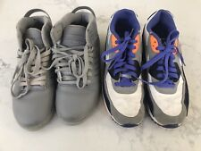 Boy's Nike Air Max And Supra Shoes High Top Sneakers Size US7